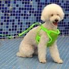 Huisdier monochroom Mesh Harness leiband hond borst bretels met 120x1.5cm tractie touw  groot formaat  buste kleding: 36-68cm(Green)