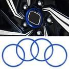 4 STKS auto metalen wiel hub decoratie ring voor BMW 5 serie 2018 (blauw)