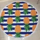 Microfiber ronde kwasten ananas afgedrukt Beach deken zwembad Beach gooien handdoek Yoga picknick Mat  formaat: 150 x 150cm