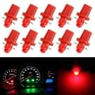 10 stuks 0.4W B8.5 wig instrumentenpaneel COB LED Dashboard Gauge Cluster Indicator Lamp gloeilamp (rood licht)