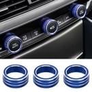 3 delige auto aluminiumlegering airconditioner Knob behuizing voor Honda tiende generatie Accord (blauw)