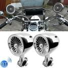 BJ600 600W multifunctionele motorfiets bewerkt Bluetooth Audio-versterker  steun FM & bekabelde Control(Silver)