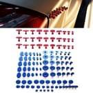 120 stuks Auto PDR Plastic Ding lijm Tabs verveloos Dent auto reparatie Tools Kits lijm Puller Sets tabbladen PDR verwijderingshulpmiddelen