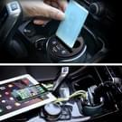 HSC-YC-19 Cup autolader 2.1a / 1A Dual USB poorten 12V-24V autolader met 2-Socket sigaret en Card Socket(Silver)