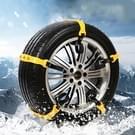 10 PC's auto sneeuw Tire anti-slip colliers geel kettingen voor gezinsauto (klein formaat)