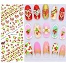 DS209-222 5 pc's 14 patronen DIY Design schoonheid Water overdracht Harajuku nagels Art Sticker Nail Art Decoratie accessoires  willekeurige kleur levering  zonder nagels