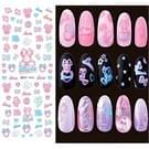 DS395-408 5 pc's 12 patronen DIY Design schoonheid Water overdracht Harajuku nagels Art Sticker Nail Art Decoratie accessoires  willekeurige kleur levering  zonder nagels