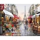 DIY creatief Paint By Numbers olieverfschilderij Parijs Flower Street Art schilderen zonder kader  grootte: 40 * 50 cm