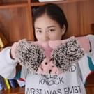 Winter Lovely Cartoon muis breien Lady wanten Warm Cartoon Hedgepig Full Finger Gloves(Pink)