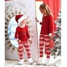Kerst familie bijpassende brieven afdrukken katoenen nachtkleding Sets voor kinderen  grootte: 5T