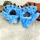 Een paar Christmas Gift Cute Cartoon dinosaurus klauw Winter Warm Gloves(Blue)