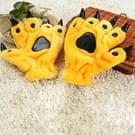 Een paar Christmas Gift Cute Cartoon dinosaurus klauw Winter Warm Gloves(Yellow)