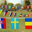 21m 30 * 45cm 50 landen vlaggen internationale String vlaggen-Banners