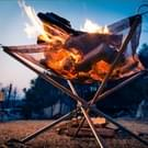 RVS draagbare buiten opvouwbare Barbecue gereedschap Barbecue Pits  ultra licht raster kachel