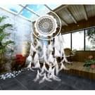 Creatieve witte Lace bloem Dream Catcher windchime Feather hanger voor Home muur decoraties sieraad  willekeurige stijl-levering