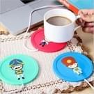 Cartoon soldaat patroon USB siliconen warme Coaster  willekeurige kleur levering