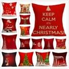 Christmas Festival patroon Car Sofa Pillowhoesje met Decorative Head Restraints Home Sofa Pillowcase  M  Afmeting:43*43cm