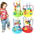 Educatieve Baby Kids rond kralen houten speelgoed peuter baby intelligentie speelgoed