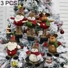 3 stuks kerst decoratie Gift pluche pop tegenhanger  willekeurige stijl levering