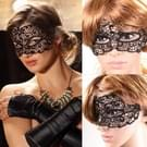 Maskerade Party Dance Sexy Lady Lace Hollow Mask(Black)