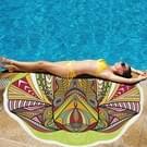 Polyester afgedrukt zomer Bad handdoek ronde olifant zand strand handdoek omslagdoek sjaal  formaat: 150 x 150cm