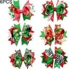 6 stuks Swallowtail Butterfly knoop kerst haarspeld kerst Headdress voor kinderen
