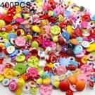 400 stuks assorti gemengde kleurknoppen naaien DIY ambachten kinderen handmatige knop schilderkunst  willekeurige kleurstijl