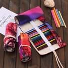"36 slots"" Sunset Tree Print Pen tas Canvas potlood Wrap gordijn oprollen potlood kast briefpapier Pouch"""