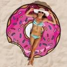 Magenta Donuts patroon gedrukt zomer Bad handdoek zand strand handdoek omslagdoek sjaal  formaat: 150 x 150cm
