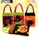 5 pc's Halloween decoratie Creative Cartoon Candy Gift Square Tote voor kinderen  willekeurige stijl-levering