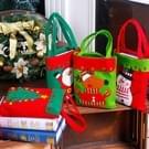 Kerst tafel decoratie Candy tas  verdikt Non-woven stof Kids cadeaus tassen  willekeurige kleur levering