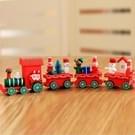Tafeldecoratie van Kerstmis  houten treinen kinderen kleuterschool decoratie ornamenten Kerstcadeaus (rood)