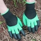 Een paar Latex handschoenen met Claws ABS Plastic handschoenen voor graven en planten