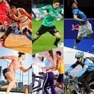 Mannen Outdoor sporten elastische ademend anti-slip elleboog Arm mouw UV Protective Gear  maat: L (rood)