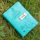 Eenvoudige creatieve kinderen Password Lock PU lederen Cover geschenken briefpapier Notebook Office Stationery(Blue)