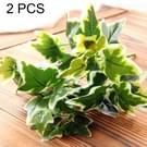 2 PC's kunstmatige planten voor Plastic bloemen huishouden winkel voorraden decoratie bataat blad