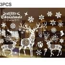 3 PC's Christmas decoratie Snow Flakes Raamstickers muur Stickers verwisselbare  willekeurige stijl levering  grootte: 55 * 38cm