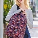 Kleurrijke bloemen patroon Print reizen rugzak School schouders tas voor meisjes  formaat: 40 x 30 cm x 17 cm