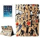 Voor iPad 9 7 (2018) & iPad 9.7 inch 2017 / iPad Air / iPad Air 2 universele basketbal sport patroon horizontale Flip leren beschermhoes met houder & Card Slots