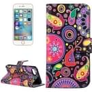 For  iPhone 8 & 7  Acaleph Pattern Leather Case with Holder & Card Slots & Wallet