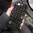 Voor iPhone 8 & 7 in het oog springende pailletten stijl terug Cover beschermhoes (zwart + goud)