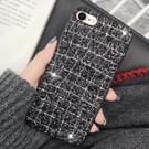 Voor iPhone 8 & 7 in het oog springende pailletten stijl Back Cover beschermhoes (zwart + zilver)