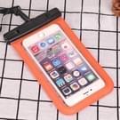 PVC transparant universele IPX8 waterdichte tas met nekkoord voor slimme telefoons onder 6.3 inch (oranje)