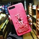 Voor iPhone 8 Plus & 7 Plus borduurwerk Red Dancing Girl patroon volledige dekking terug beschermhoes