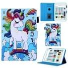 Regenboog Unicorn patroon horizontale Flip lederen case voor iPad mini 2019 & 4 & 3 & 2 & 1  met houder & kaartsleuf & slaap/Wake-up functie