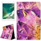 Voor iPad Pro 10.5 inch PU + TPU paarse edelstenen patroon horizontale Flip lederen draagtas met houder & Card Slots