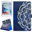 Voor iPad Pro 10.5 inch PU + TPU Half bloem patroon horizontale Flip lederen draagtas met houder & Card Slots & portemonnee