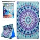 Voor iPad Pro 10.5 inch PU + TPU Mint groene bloemen patroon horizontale Flip lederen draagtas met houder & Card Slots & portemonnee
