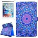 Voor iPad Pro 10.5 inch PU + TPU Blue Violet patroon horizontale Flip lederen draagtas met houder & Card Slots & portemonnee