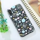 For iPhone X Embossed Flowers Pattern TPU Protective Back Cover Case